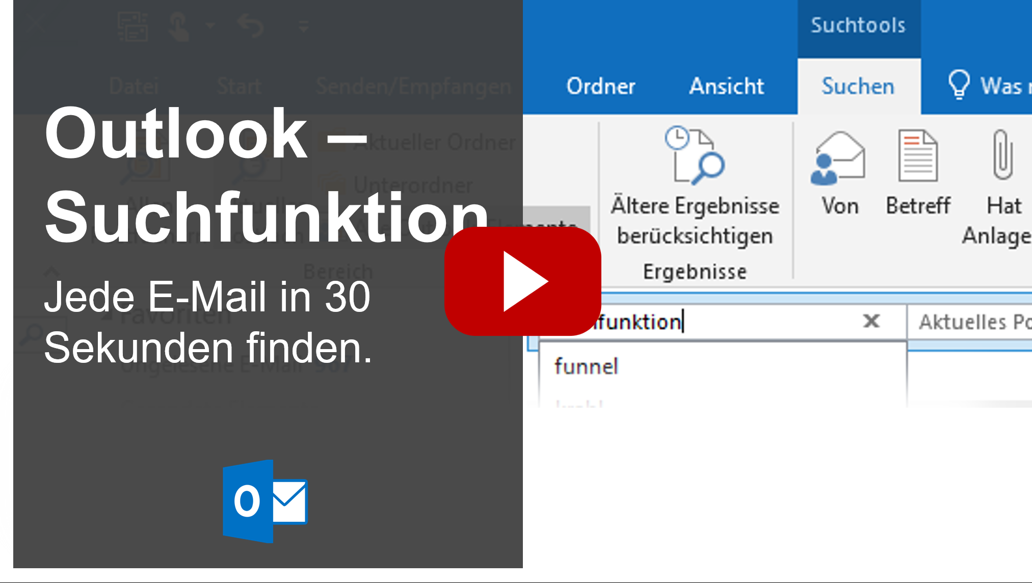 Outlook Suchfunktion