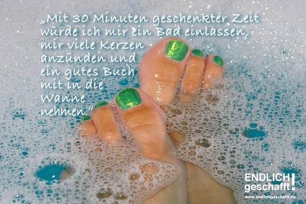 30 Minuten fuer ein Bad