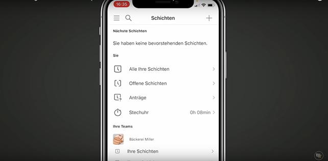 Anleitung für die Stechuhr und Zeiterfassung in der Microsoft Teams-App Schichten - Bild4