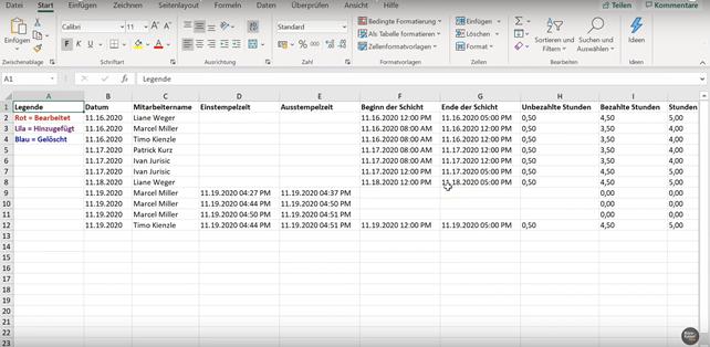 Anleitung für die Stechuhr und Zeiterfassung in der Microsoft Teams-App Schichten - Bild6