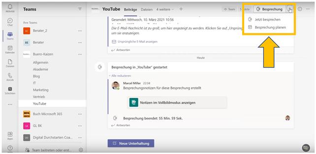 Anleitung für Microsoft Teams Videokonferenzen - Bild1