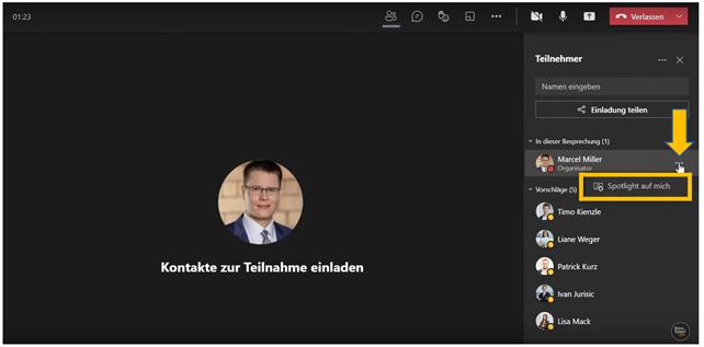 Anleitung für Microsoft Teams Videokonferenzen - Bild4