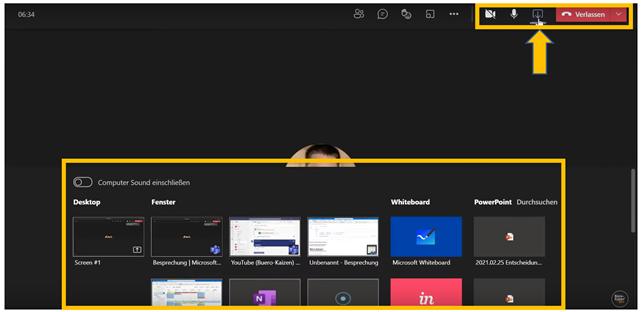 Anleitung für Microsoft Teams Videokonferenzen - Bild6