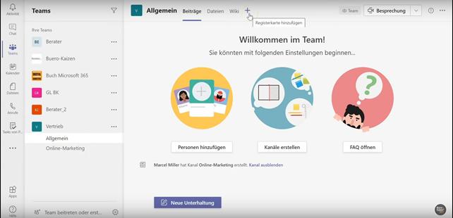 Anleitung für den Gruppen-Kanalkalender in Microsoft Teams - Bild 1