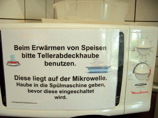 Beschriftung Mikrowelle
