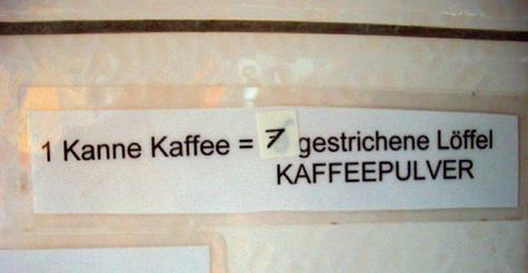 Kaffedosierung