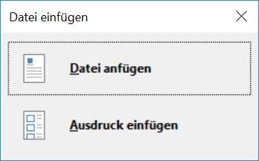 Die zwei Spezialvarianten, um Dateien in OneNote einzufügen