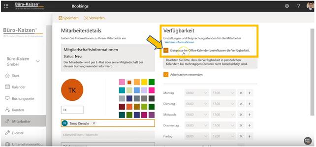 Microsoft Bookings - Anleitung für den Online-Buchungskalender - Bild 5