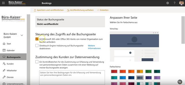 Microsoft Bookings - Anleitung für den Online-Buchungskalender - Bild 6