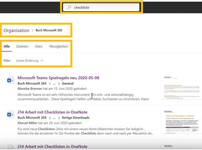 Microsoft SharePoint Suche - Anleitung für die Suchfunktion und Suchoperatoren - Bild1