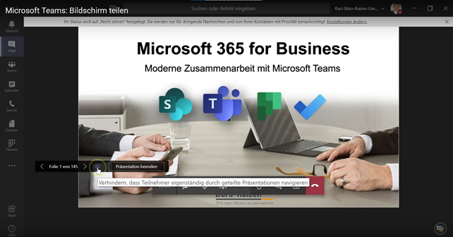 Microsoft Teams Bildschirm teilen - Anleitung Bild 4
