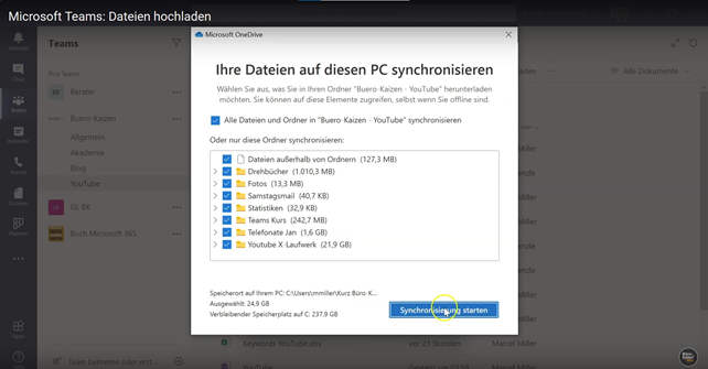 Microsoft Teams Dateien hochladen - Anleitung Bild 4