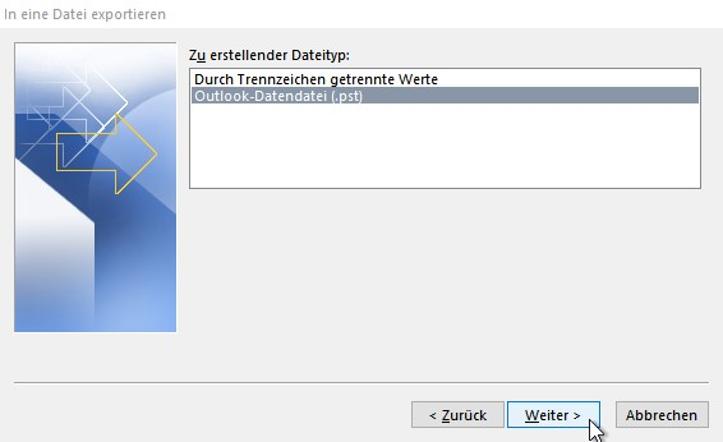 Outlook-Adressbuch exportieren-pst-datei-erstellen