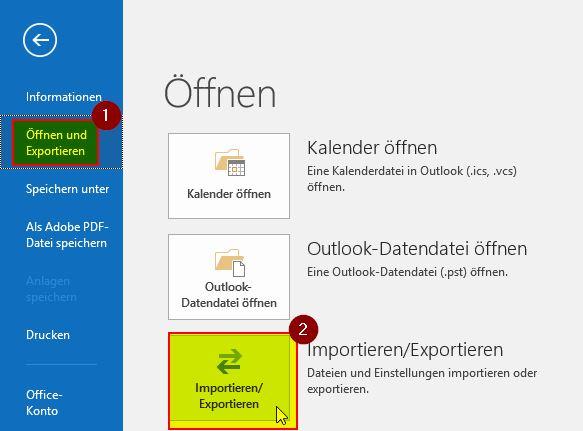 Outlook sichern