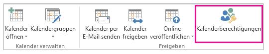 Kalenderberechtigung - Outlook Kalender teilen