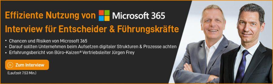 Umstellung auf Microsoft 365 - Interview mit Jürgen Frey