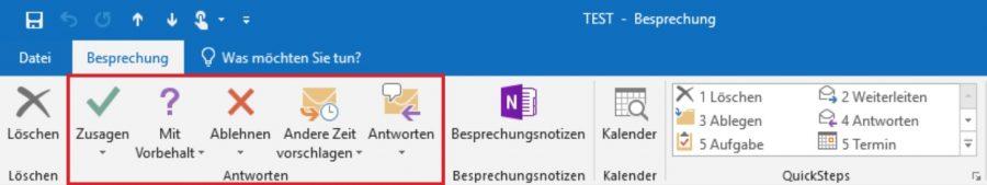 Wie man auf eine Besprechungsanfrage in Outlook antwortet