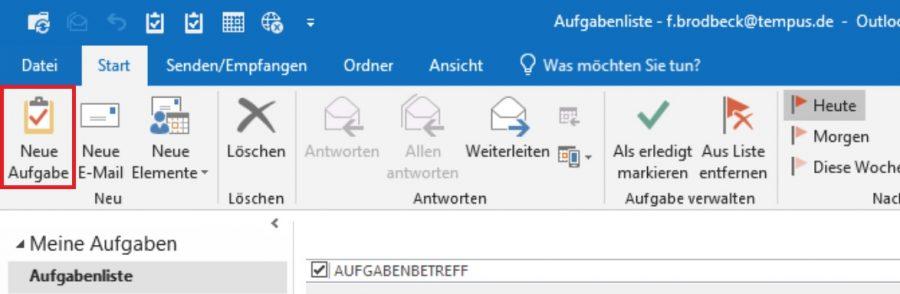 Wie man eine neue Aufgabe in Outlook erstellt
