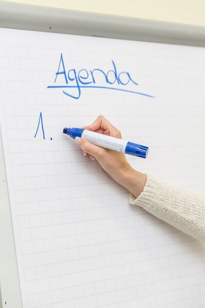 Agenda für Besprechungsorganisation