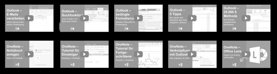 Videokurs Outlook OneNote grau