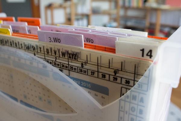 Alternative Wiedervorlagen für Ablagesystem Büro