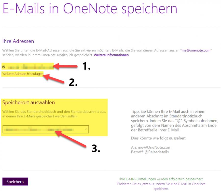 an-onenote-senden-konfiguration-emailadresse-und-speicherort