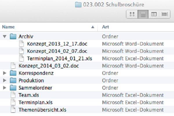 Archivordner gegen doppelte Dateien