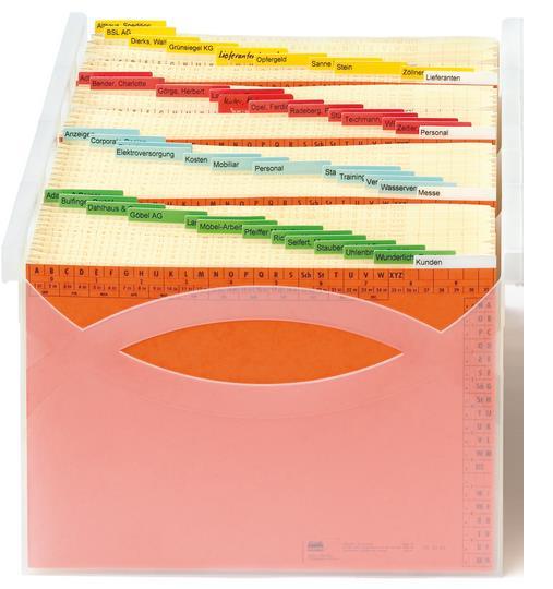 Farbige Markierungen verkürzen Suchzeiten verbessern die Büroorganisation, weil sie Suchzeiten verkürzen.