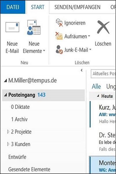 Bearbeitungszeit von E-Mails reduzieren
