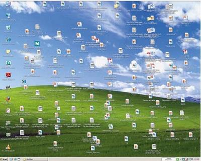 Bei übefülltem Despktop PC aufräumen