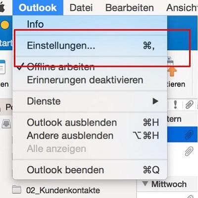 Bei E-Mail-Fluten Empfangssignale ausschalten