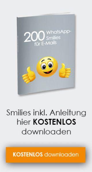Smileys zum einfügen in emails