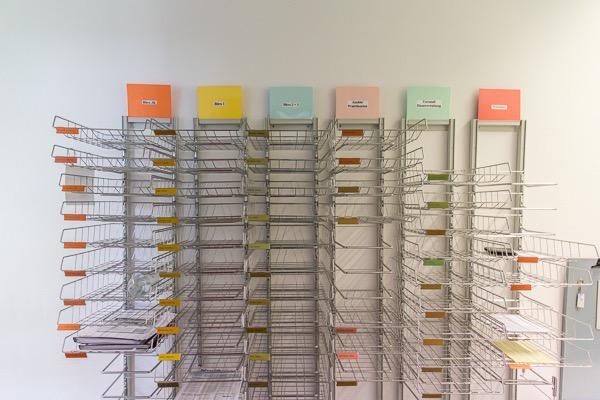 Briefkastensystem der Büroausstattung