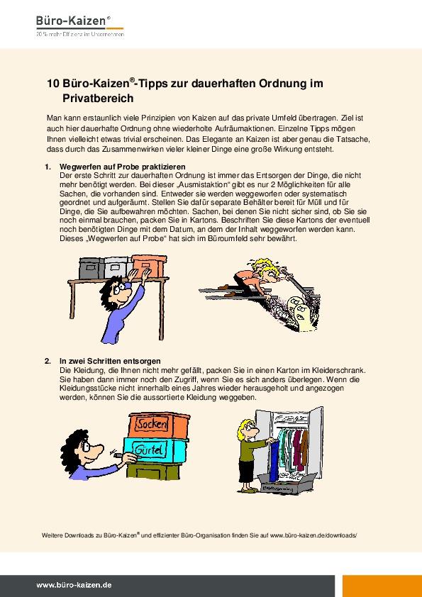 praxiserprobte checklisten tipps und anleitungen zum download b ro kaizen. Black Bedroom Furniture Sets. Home Design Ideas