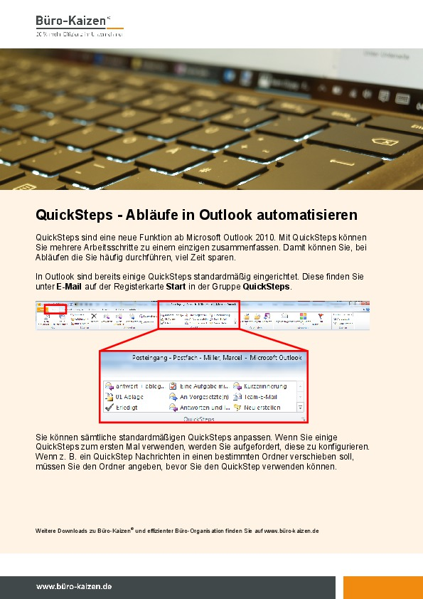 Quicksteps - Abläufe in Outlook automatisieren-thumbnail