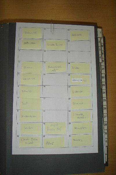 Alles griffbereit im Pultordner: Effizient arbeiten mit einem Inhaltsverzeichnis