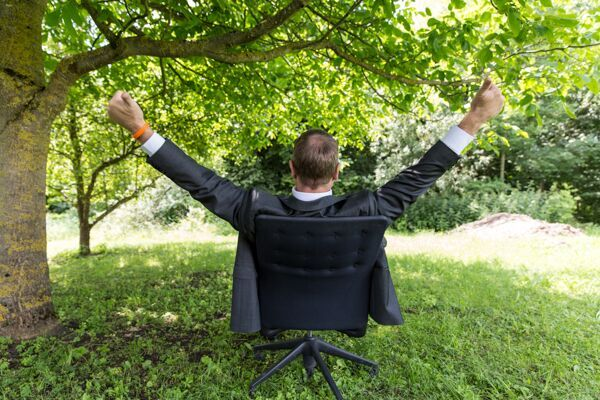 Gluecklich mit Work-life-Balance