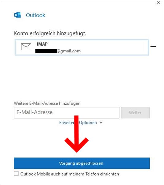 gmail-in-outloook-einrichten-vorgang-abgeschlossen
