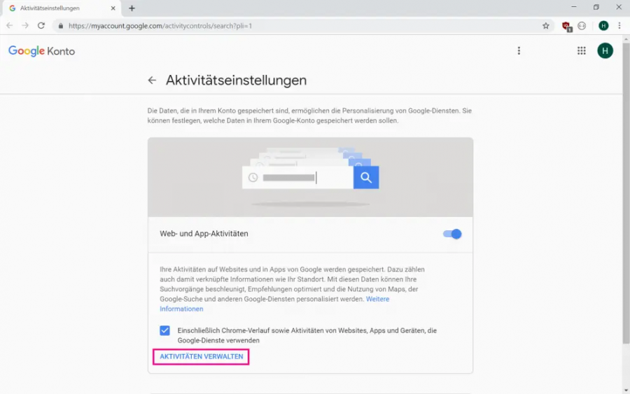 google-verlauf-auf-ipad-loeschen-einstellungen-aktivitäten-verwalten