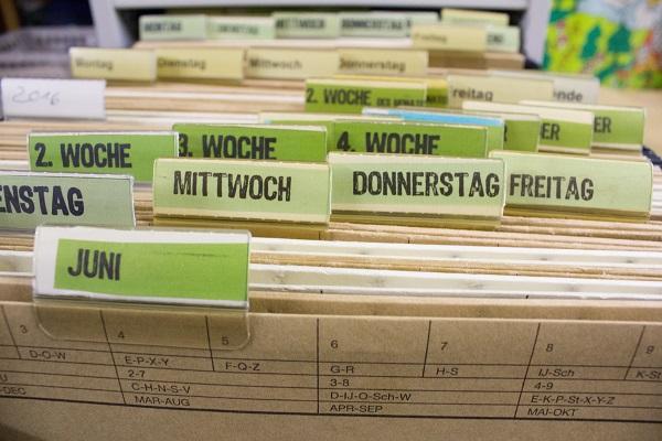 Hängeregister im Büro als Ablagesystem