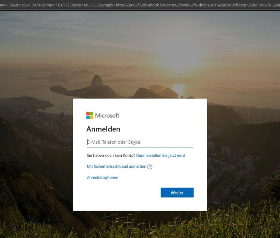 hotmail-posteingang-oeffnen-mit-outlook-anmeldebildschirm