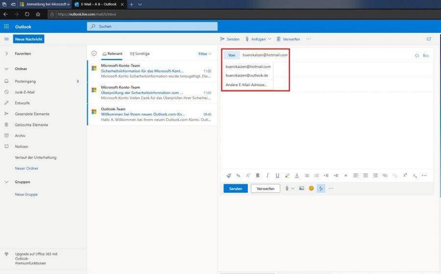 hotmail-posteingang-oeffnen-mit-outlook-mailadresse-zum-versenden-auswaehlen