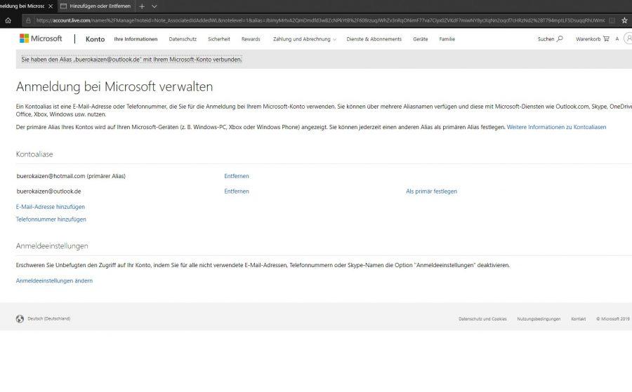hotmail-posteingang-oeffnen-mit-outlook-uebersichtsseite-zum-verwalten