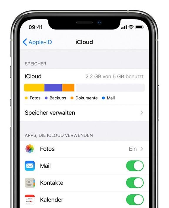 iphone-cloud-apps-auswaehlen