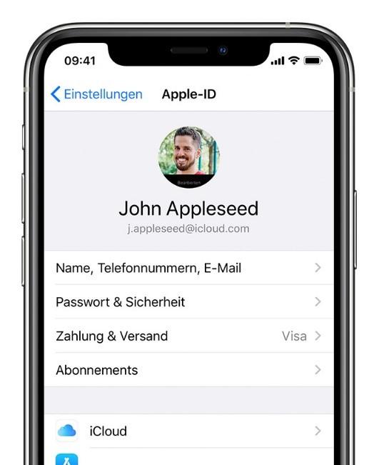 iphone-cloud-benutzerkonto-auswaehlen
