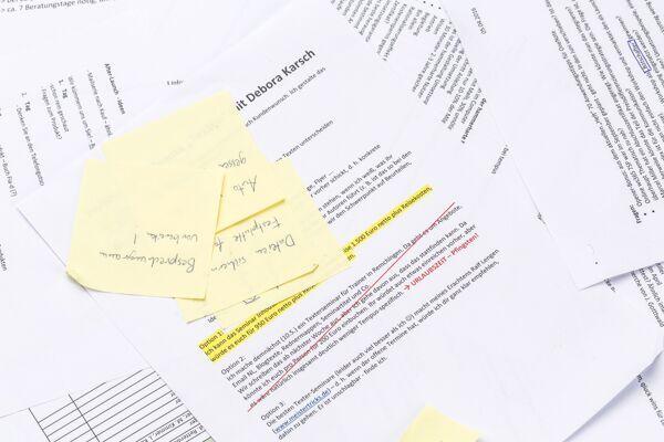 Keine Papierstapel Work-Life-Balance