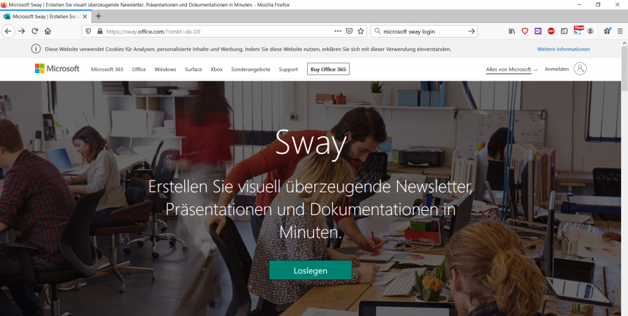 microsoft-sway-website-oeffnen-und-einloggen