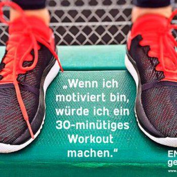 Motiviert für ein Workout