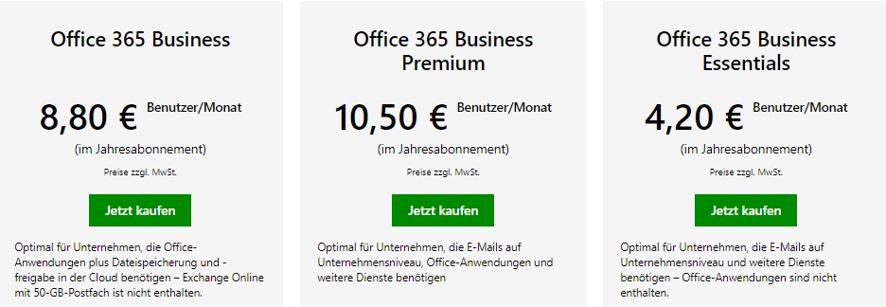office-365-preise-unterschiede-unternehmen