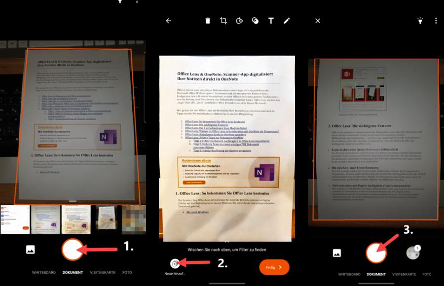 office-lens-mehrere-dokumente-scannen
